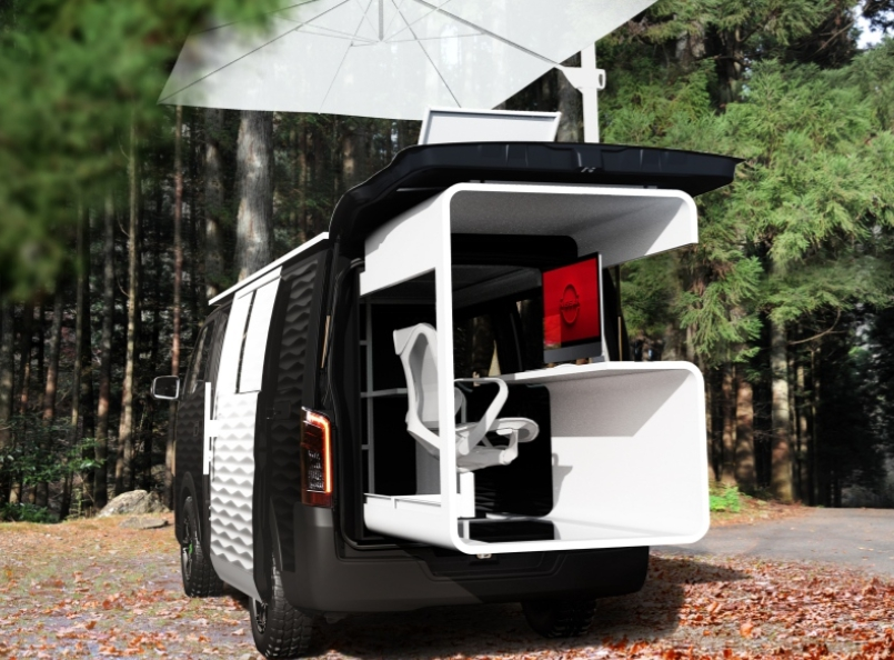 Nissan NV350 Office Pod ใหม่ ต้นแบบออฟฟิศเคลื่อนที่ดีไซน์สุดโมเดิร์น